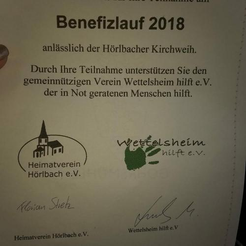 Benefizlauf 2018